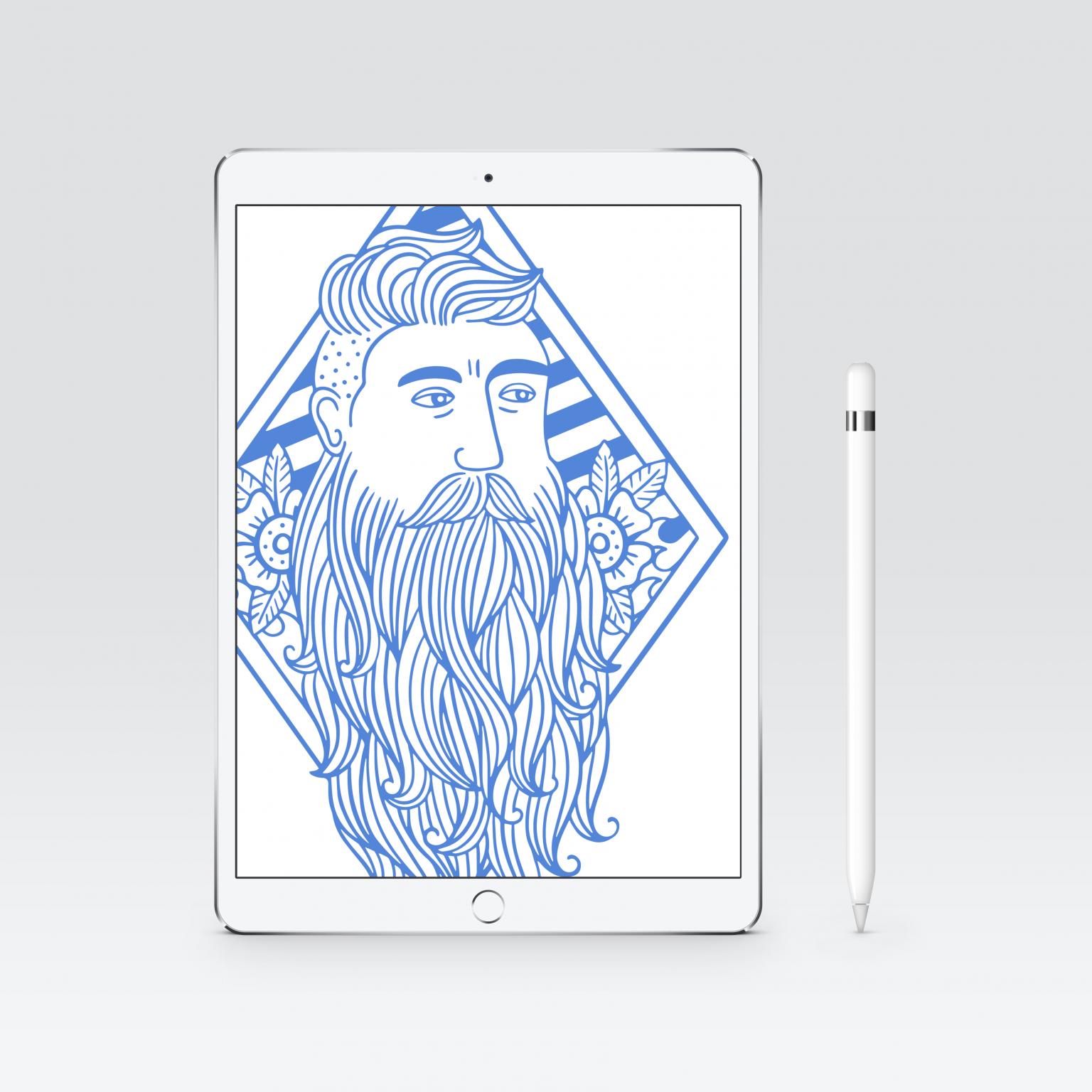 Blue Beard Barbershop Illustration