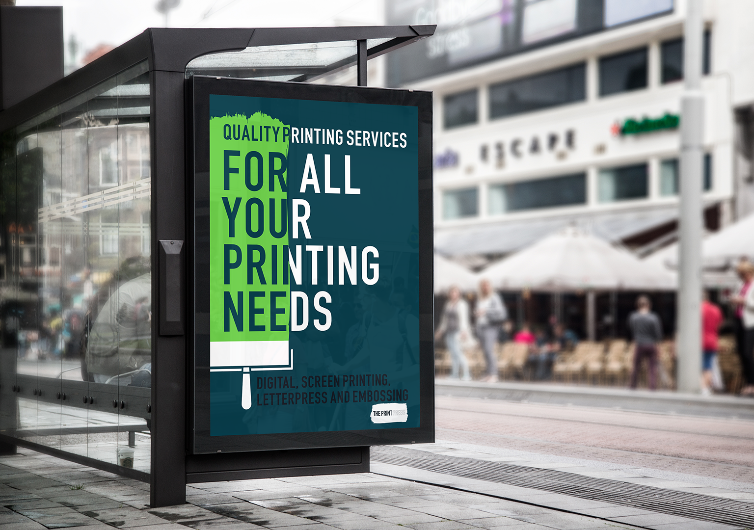 The Print Press bus stop ad